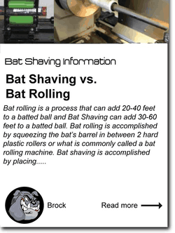 Bat Shaving vs. Bat Rolling
