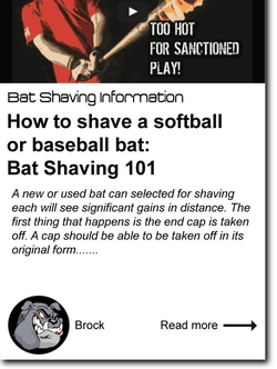 How to Shave a Softball Bat or a Baseball Bat: Bat Shaving 101