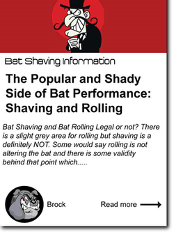 The Popular and Shady Side of Bat Performance: Shaving and Rolling